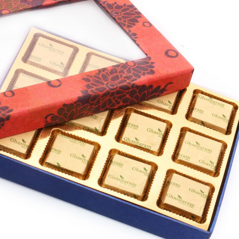 Buy Mothers Day Gifts- Orange Printed Assorted Sugarfree Chocolates Box online