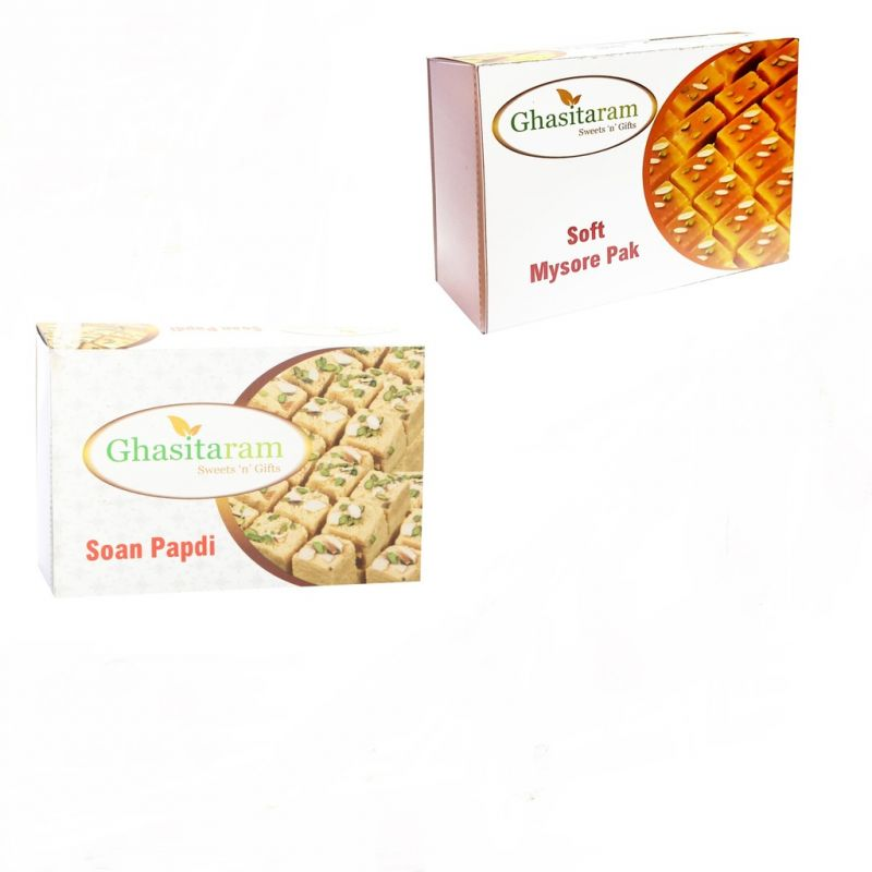 Buy Mithai Hampers - Soan Papdi And Mysore Pak online