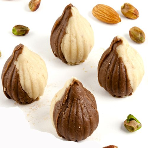 Buy Sweet-ghasitaram's Chocolate Twin Mawa Modaks online