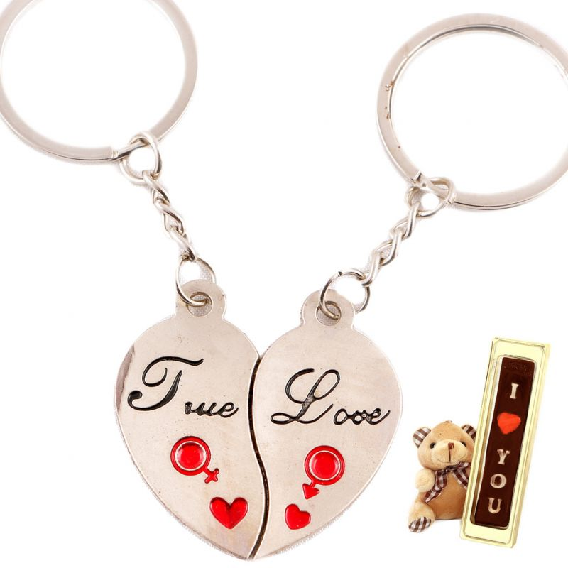 Gifts-i Love You Couple Keychain
