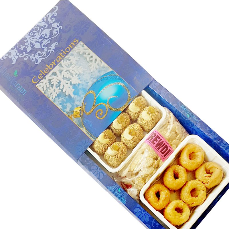 Buy Lohri Sweets-til Laddoo, Revari And Khajoor Hamper online