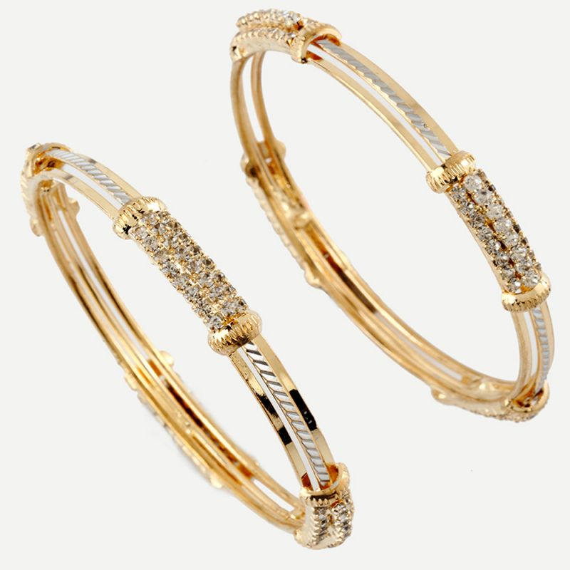 Buy Gold And Diamond Bangles line