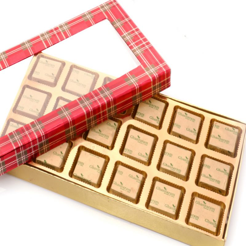 Buy Mothers Day Gifts- Red Checks Assorted Sugarfree Chocolates Box online