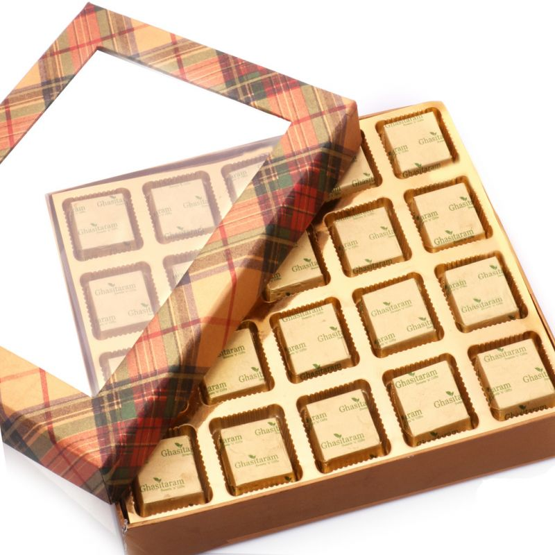 Buy Mothers Day Gifts- Golden Checks Assorted Sugarfree Chocolates Box online
