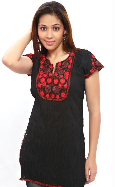 Buy Black And Red Kurti online
