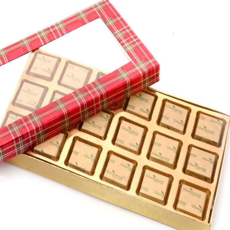 Buy Sugarfreechocolate-red Checks Assorted Sugarfree Chocolates Box online