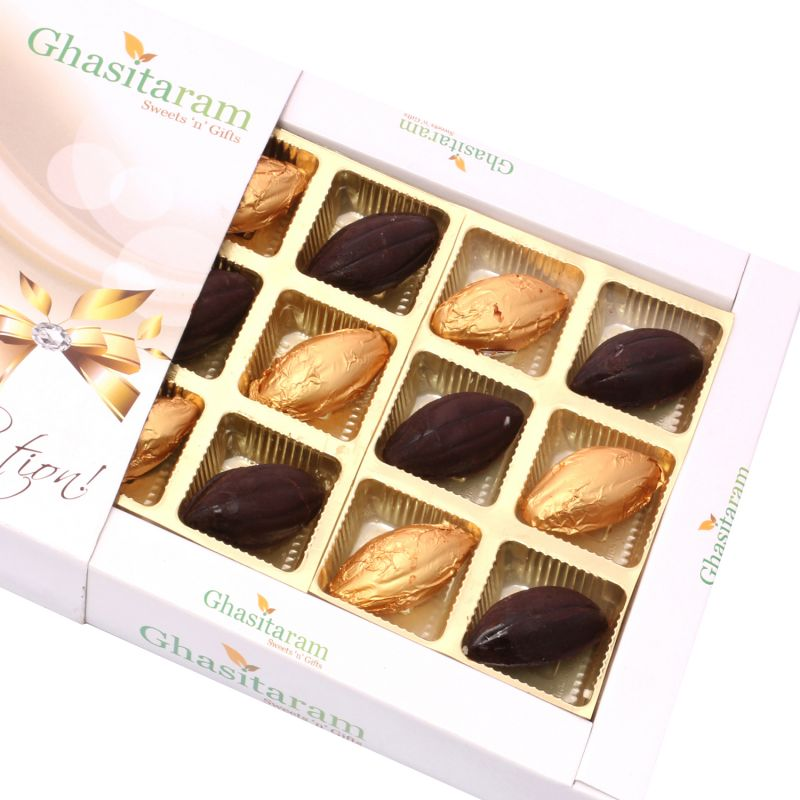 Buy Sugarfreechocolate-whole Roasted Almond Sugarfree Chocolates Box (12 Pcs) online