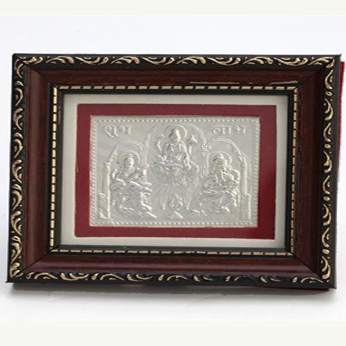 Buy Gifts Ganesha Pure Silver Frames-slm 3 Pure Silver Laxmi Ganesh ...