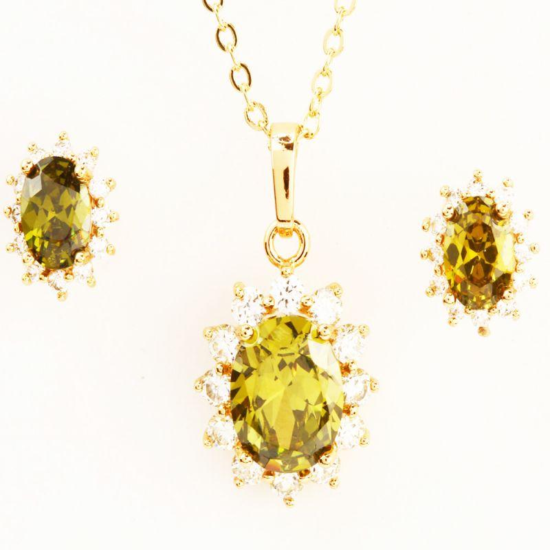 Buy Green Stone Pendant Set online