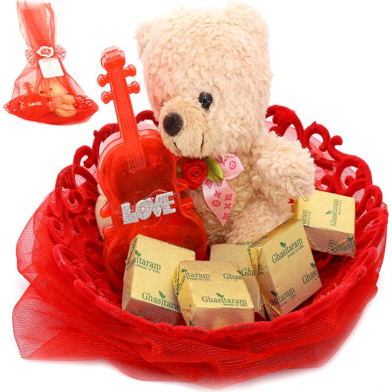 Buy Chocolates- Teddy With Chocolates online