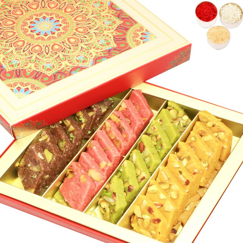 Buy Bhaidooj Gifts Sweets - Ghasitaram's Assorted Kaju Katlis In Fancy Box online