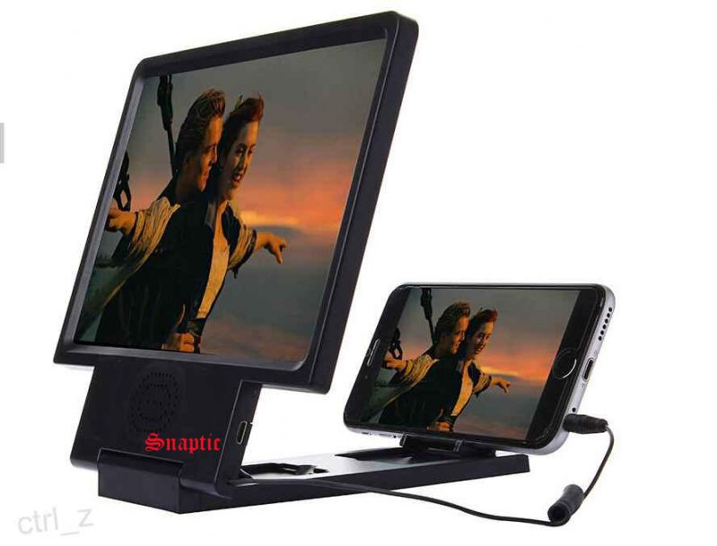 Buy Snaptic 3d Folding HD Mobile Magnifier With Built In Speakers online