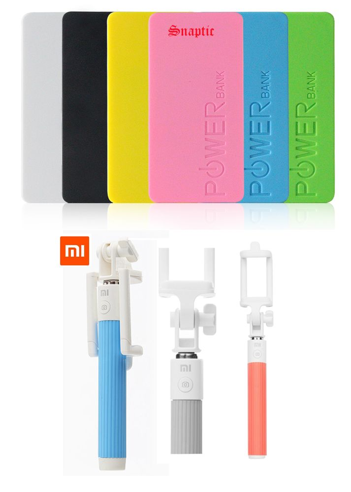 Buy 5600mah Universal Powerbank & Xiaomi OEM Bluetooth Selfie Stick online