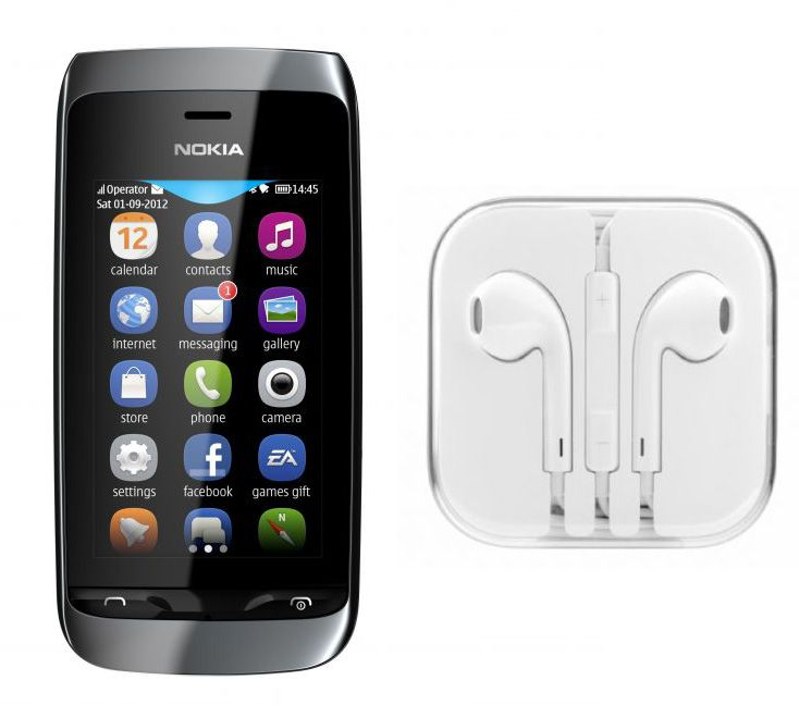 Buy Hi Definition Stereo Earphones With Mic For Nokia Asha 309 online