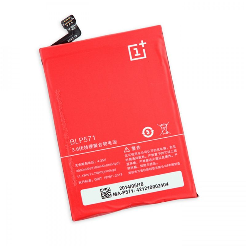 Buy Oneplus One Li Ion Polymer Replacement Battery Blp-571 By Snaptic online