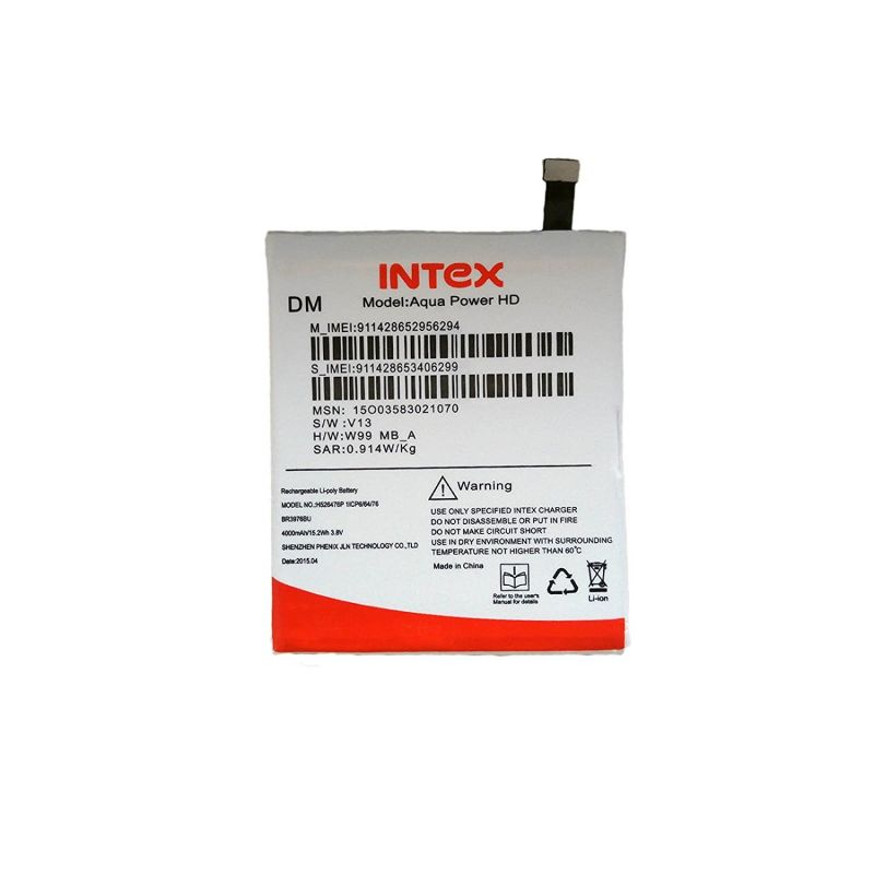 Buy Intex Aqua Power/power HD Li Ion Polymer Replacement Battery Br4076c By Snaptic online