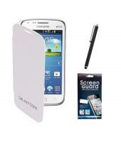 Buy Kolor EDGE Flip Cover Plus Screen Guard Plus Stylus Pen For Samsung Galaxy Core I8260 -white online
