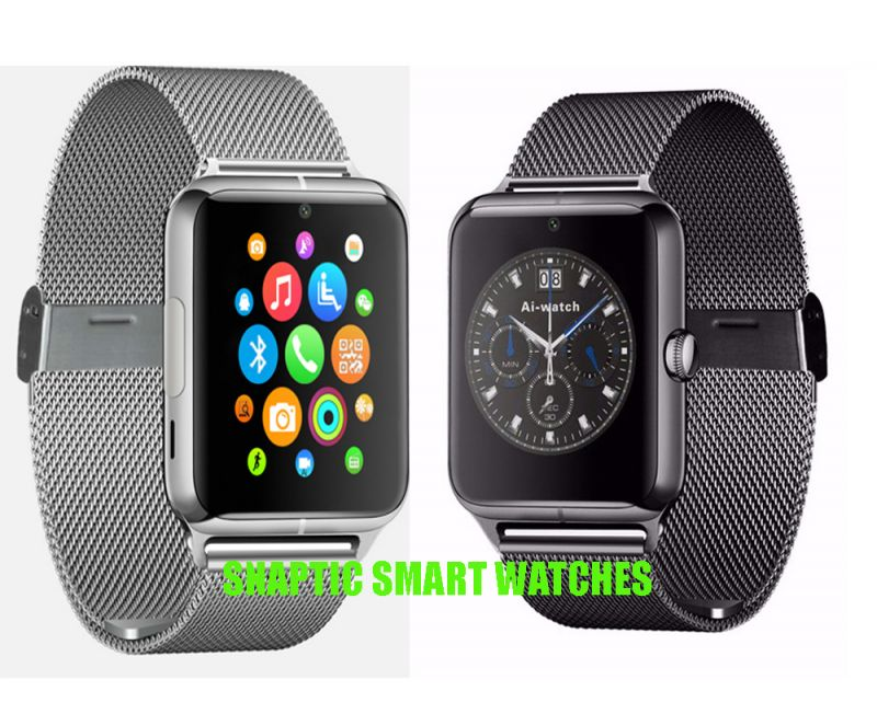 Buy Snaptic Limited Edition Gt08 Metal Strap GSM Enabled Tf Card Hidden Camera Smart Watch For Ios/android - Assorted Color online