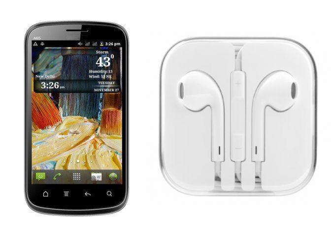 Buy Hi Definition Stereo Earphones With Mic For Micromax A65 online
