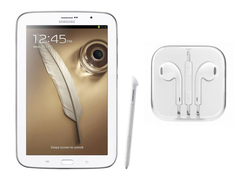 Buy Hi Definition Stereo Earphones With Mic For Samsung Galaxy Note 8.0 N5100 online