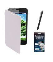 Buy Kolor EDGE Flip Cover Plus Screen Guard Plus Stylus Pen For Samsun Galaxy Note I9220 -white online