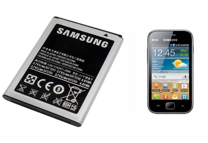 product samsung ebvu mah li ion battery for galaxy ace duos s