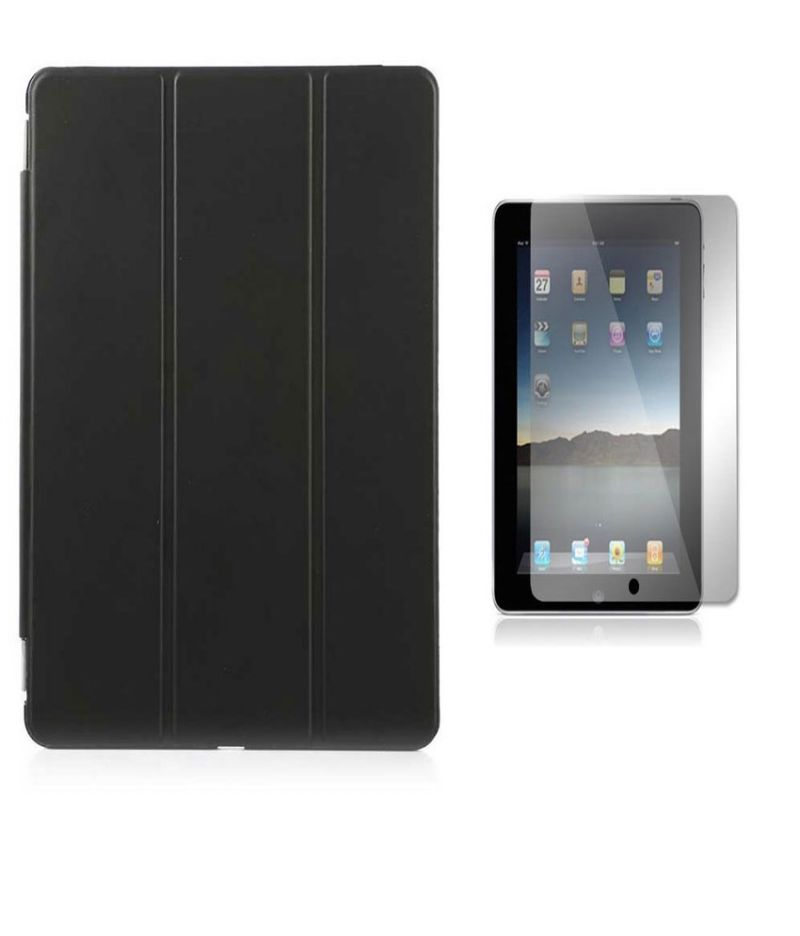 Buy Premium 3 Fold Black Flip Cover For Apple Ipad Air 2 With Ultra HD Screen Guard online
