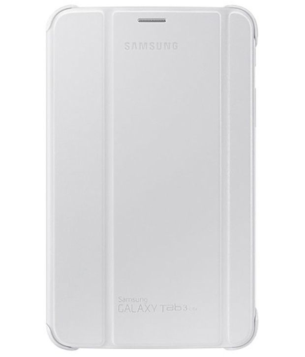 Buy Premium 3 Fold White Flip Cover For Samsung Galaxy Tab 3 Neo T110/t111 online