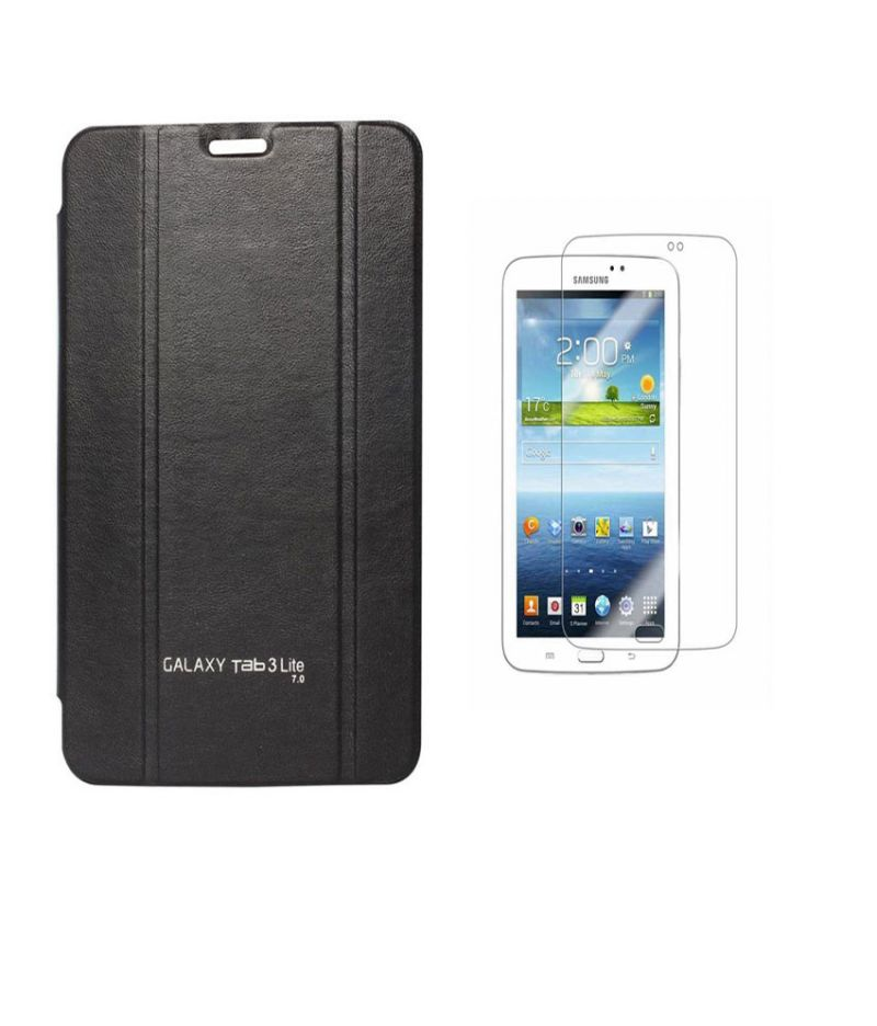 Buy Premium 3 Fold Black Flip Cover For Samsung Galaxy Tab 3 8.0 Sm-t310/sm-t311/sm-t315 With Ultra HD Screen Guard online
