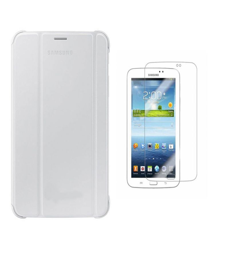 Buy Premium 3 Fold White Flip Cover For Samsung Galaxy Tab 4 8.0 T330/t331/t335 With Ultra HD Screen Guard online