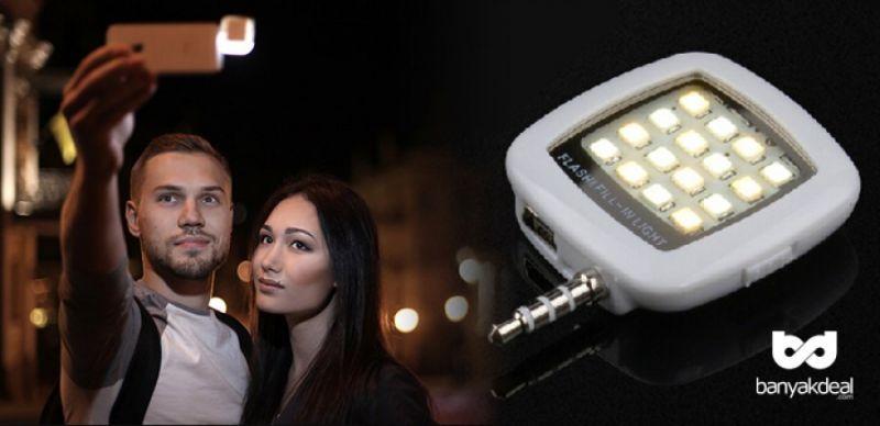 Buy Portable Mini 16 LED Selfie Enhancing Dimmable Mobile Flash Fill-in Light online