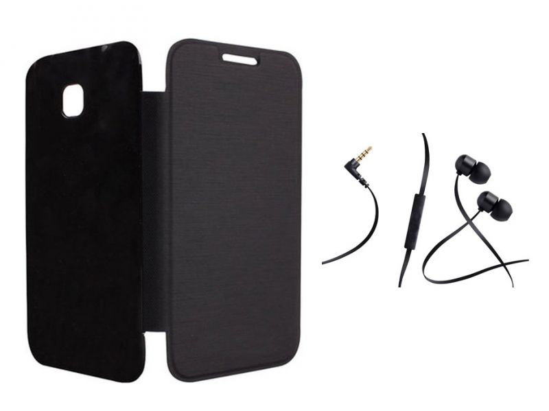 Buy Sony Xperia Z Black Flip Cover With Incredible Smartphone Headset With Mic online