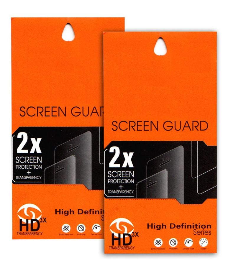 Buy Ultra HD 0.2mm Screen Protector Scratch Guard For Micromax Canvas 2 Colors A120 (set Of 2) online