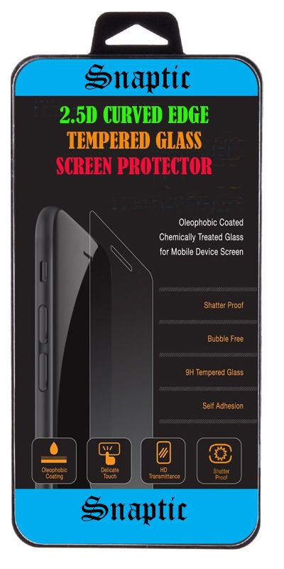 Buy Snaptic 2.5d Curved EDGE Clear HD Tempered Glass For Lava Flair P2 online