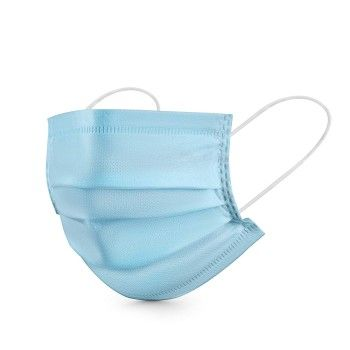 Buy 3 Ply Non-woven Three Layer Anti Pollutant & Anti-virus Surgical Disposable Face Mask With Nose Pin online