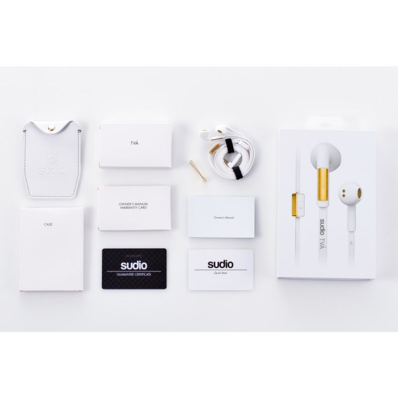 Buy Sudio - Tva White In-ear Earphones W/ Button Mic & Remote For Smartphones online