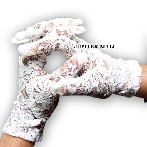 Buy Gloves Victorian Tea Ladies Civil War White Cotton Crochet Cas Sass -01 online