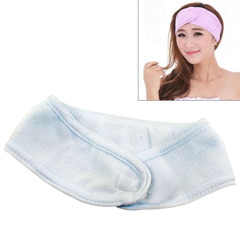 Buy 2 X Adjustable Soft Wash Face Makeup Spa Fitness Stretch Hair Band Headband online