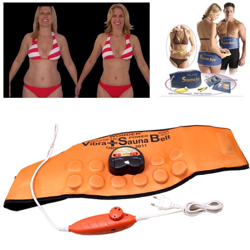 Buy Magnetic Sauna Belt Anti Fat Vibrate Massager Slim Waist Weight Loss - 01 online