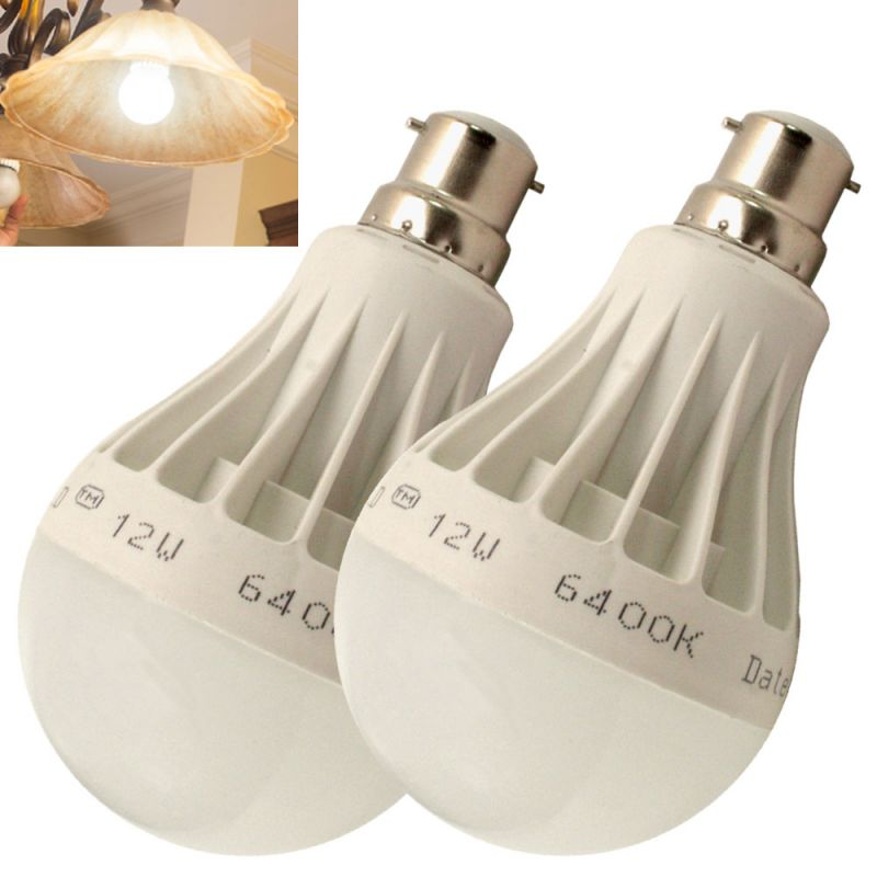 Buy Set of 2pcs 12w High Power Led Bulb For Pure, White, Cool, Safe Light online
