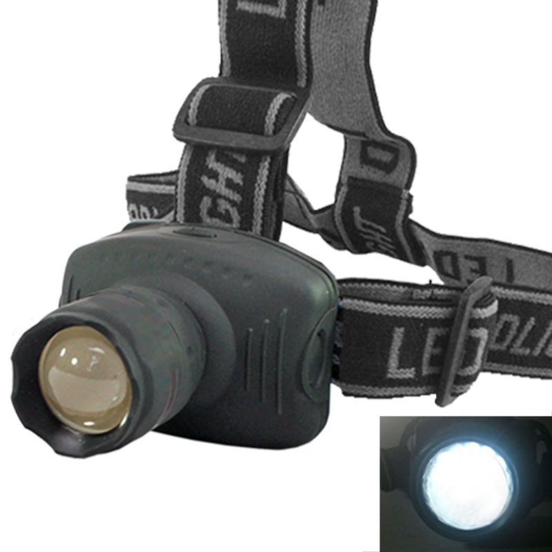 Buy Cree LED Headlamp 160 Lumens 170m Flashlight Headlight Torch Zoomable - 03 online