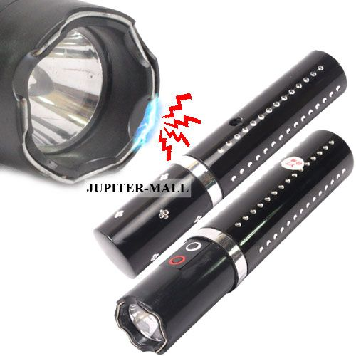 Buy Mini Ladies Security Self Defense 1000Kv Stun Gun Torch Flashlight online