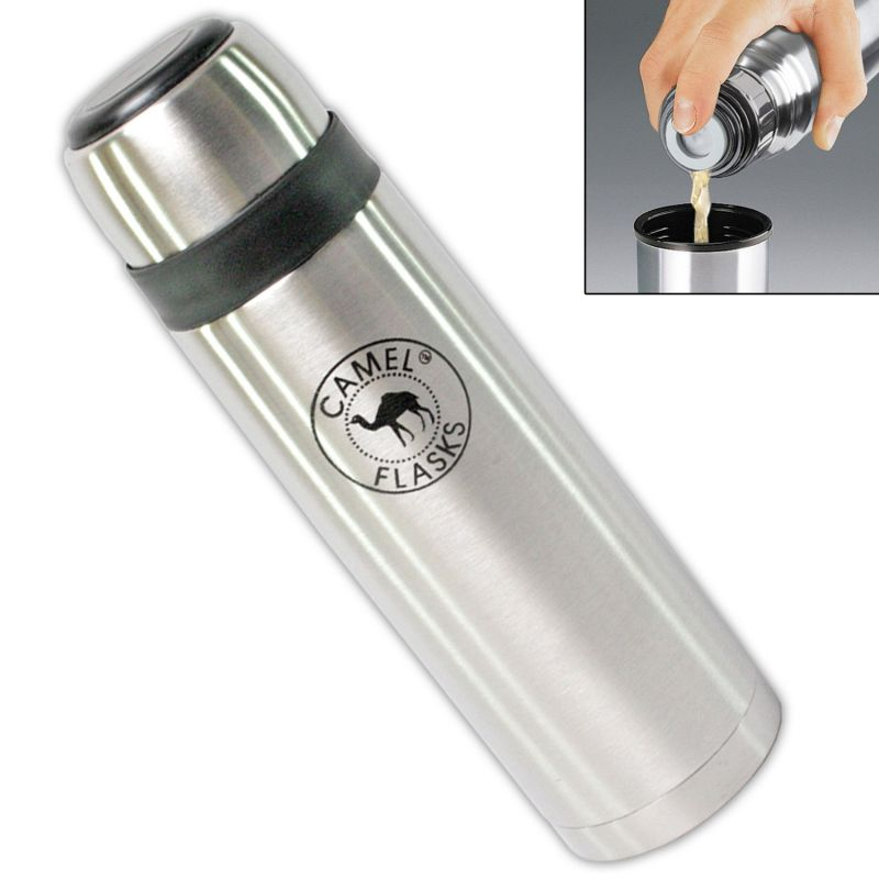 Buy Camel Vacuum Thermos Flask Steel Bottle 1000 Ml Silver online
