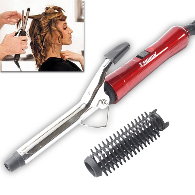 Buy Hair Curler Iron Rod Brush Styler 15w online