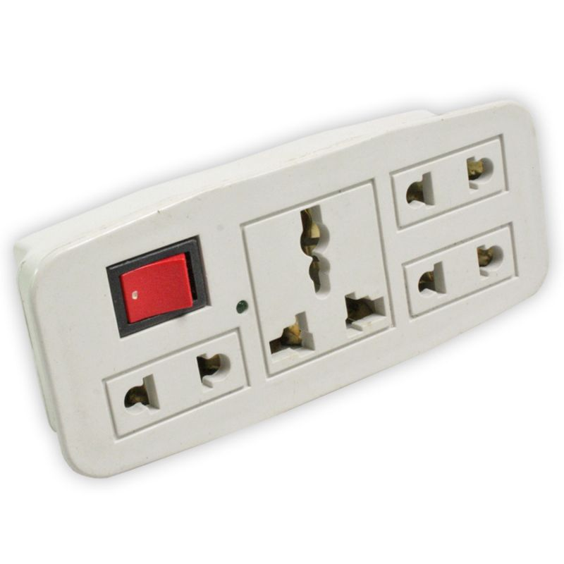 Buy 2 Pin Universal Adaptor Conversion Plug 5amp Multi Socket Multiplug - 07 online
