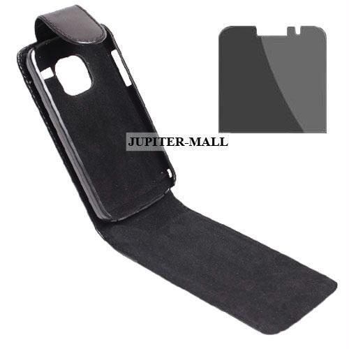 reputable site 3a131 8097f Leather Case Cover Pouch + Screen Guard Nokia E5