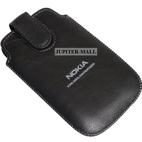huge discount aa1e3 1f8e9 Nokia Asha 200 Leather Back Case Cover Pouch Pn02