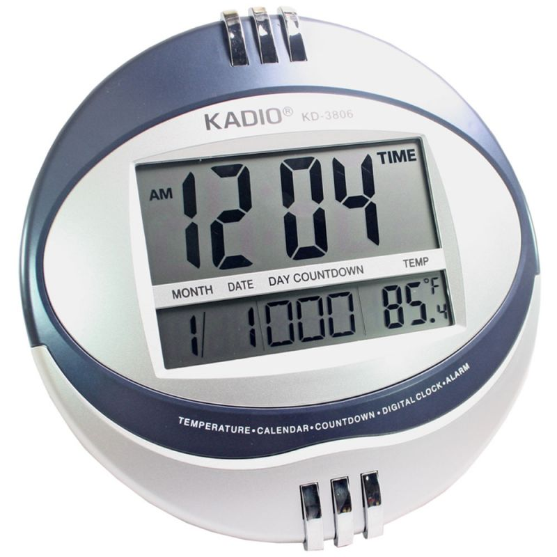 Buy BIG DIGITAL ALARM CALENDAR THERMOMETER TABLE DESK WALL CLOCK TIMER online