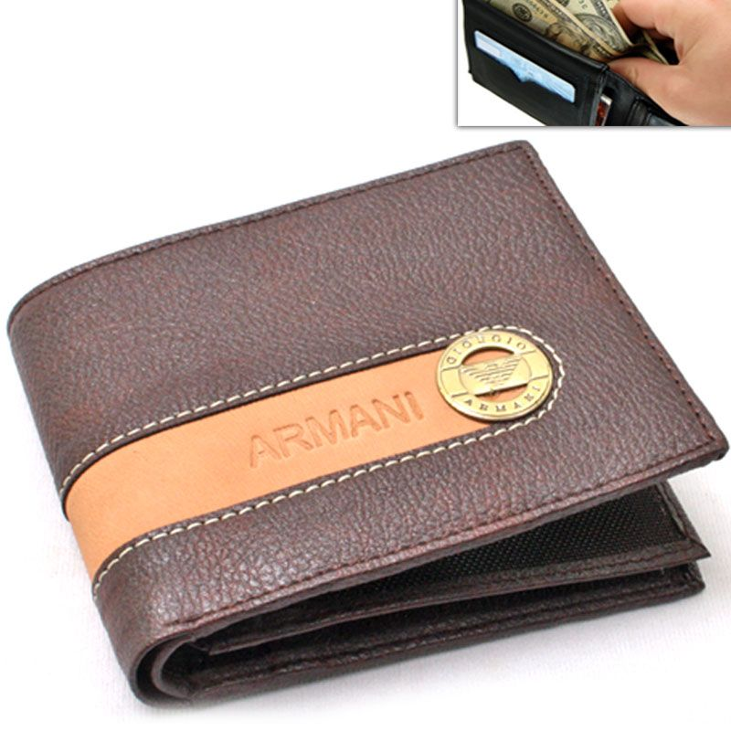 a81ceee18b6f Buy Mens Leather Wallet Credit Business Card Holder Case Money Bag Purse  -11 online