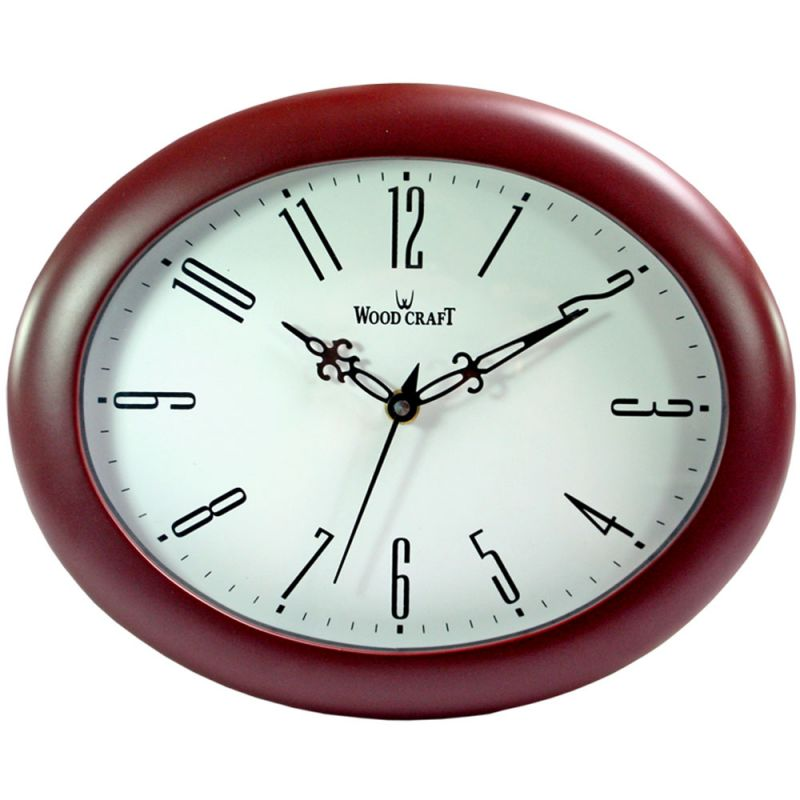 Buy 26.5cm Vintage Antique Look Wood Crafts Wooden Wall Clock Without Alarm-110 online